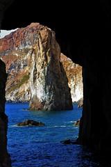 La grotta e lo scoglio (p.spaggiari) Tags: eolie scoglio grotta sicilia