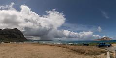 Rain over Waimanalo (tiger_tim_2000) Tags: afternoon bellows kailua kaupobchprk keoluhills mcbhk makaipier makapuu mananarabbitisland mokuluaislands oahu olomanapeak1643 timeperiod waileapt waimanalobay windward