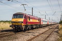 90020 Claypole (deltic17) Tags: class90 electric ews dbs eastcoast eastcoastmainline train express hirein locomotive 90020 canon canon5dmk3 1b86