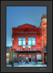 Rex Theater (the Gallopping Geezer '4.8' million + views....) Tags: rextheater movie cinema theater old historic smalltown backroad backroads morenci mi michigan tonemap tonemapped processing photomatrix canon 5d3 geezer 2016 sign signs signage