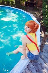 Misty at Pool (firecloak) Tags: misty pokemon water cosplay ginger orangehair
