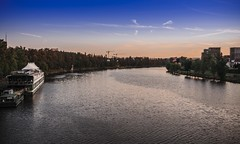 Vltava (rlubej) Tags: czechrepublic rivers colors boatsships