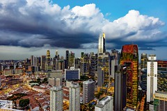 On the roof of Chinatown (magiclove_ld) Tags: nikon nikond610 20mm f18g 20mmf18g roof chinatown singapore omtrampark pinnacle duxton lanscapre widelens wide city building cloud