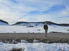 Andy in snow fields, Middle Atlas near Azrou, Morocco (Paul McClure DC) Tags: middleatlas morocco jan2017 almaghrib ifrane azrou mountains winter scenery people snow northafrica