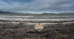 Storm (Peter Kurdulija) Tags: geo:lat=4122746228 geo:lon=17487395525 geotagged lowerhutt newzealand nzl petone wellington new zealand lower hutt city beach storm landscape cloud rain sea waves boat debris driftwood somes island nature kurdulija