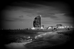 Barceloneta (stempel*) Tags: pentax k30 bw czb 50mm barcelona espanya beach playa