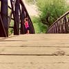 Little one (JacquieD.) Tags: littlemind bigimagination young littleone precious anywhereyougo iwillfollow littlegirlbigworld trail walking colorado outdoors nature bridge sweet