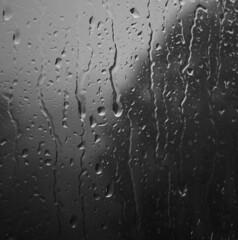 Rainy day (CTfoto2013) Tags: vitre window glassrain pluie eau water drops droplets gouttes orage storm light shadow ombre lumiere silhouette gouttelettes lumix panasonic gx7 minimaliste minimalistic abstrait bubble abstract texture monochrome bn nb bw blackandwhite noiretblanc blancoynegro rain