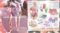 AriskeaxMomento -Late Summer Daze - (ariskea) Tags: secondlife kustom9 gacha key momento ariskea beach summer