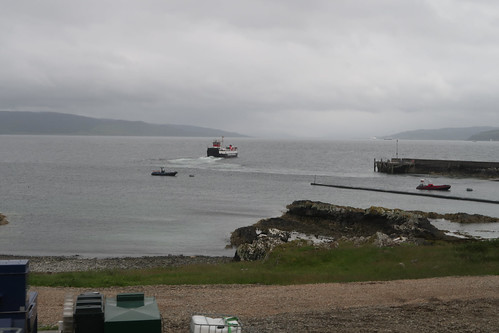 Ferry departing Kilchoan for Tobermory