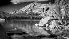 Renamed (San Francisco Gal) Tags: tenayalake lakeoftheshiningrocks monochrome bw water mountain reflection pollydome granite yosemite nationalpark easternsierra