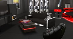 Midnight Sofa (Akaesha Revnik) Tags: second life secondlife akaesha react animated furniture animations couple bed bath sofa set