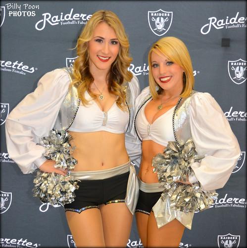 2015 Oakland Raiderettes Tess & Kelsi