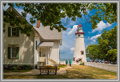 Marblehead Lighthouse Park (Rick-Willis) Tags: adobelightroom buildings horizontal ohio ononesoftware usa