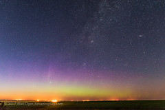 Andromeda, Cassiopeia, Perseus and an Aurora (Amazing Sky Photography) Tags: andromeda aurora autumn capella cassiopeia constellation doublecluster galaxy m31 northernlights perseus prairie starcluster