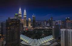 Timeslice: Night to Day of a City Center (Kuala Lumpur) (Hafidz Abdul Kadir) Tags: cityscape timeslice malaysia skyline kualalumpur asia timelapse