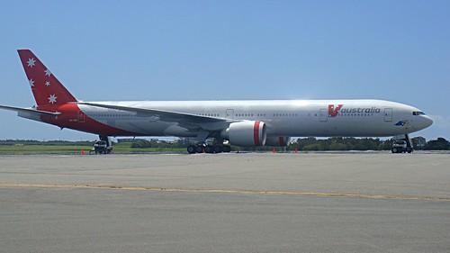 VA Boeing 777-300ER (VH-VPD), Brisbane Airport