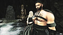 Shay & Blain (ms.skunk) Tags: gor gorean roleplay north freecompanion norse secondlife virtual