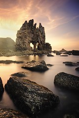 Power (Anto Camacho) Tags: sunset landscape bigstopper asturias rock seashore waterscape nature longexposure sky clouds