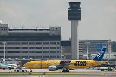 Itami Airport 2017.7.19 (3) JA743A / C-3PO ANA JET (B777-200) (double-h) Tags: omd em1markii omdem1markii lumixgxvariopz45175mmf4056asphpowerois rjoo itm osakaairport itamiairport 大阪空港 伊丹空港 airplane 飛行機 伊丹スカイパーク itamiskypark ja743a ana 全日空 b767 b767300 specialpainting 特別塗装 c3po starwars スターウォーズ スター・ウォーズ