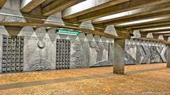 Montréal, Québec, Canada: Pie IX metro station (Green Line) (nabobswims) Tags: ca canada hdr highdynamicrange lightroom metro montréal nabob nabobswims photomatix pieix québec sel20f28 sonya6000 station subway ubahn