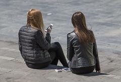 tobiasdander sitting smoking mobile phone girls hair... (Photo: Tobias Dander on Flickr)