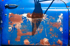 FLEA FLICKER (akahawkeyefan) Tags: door rusted truck montana davemeyer