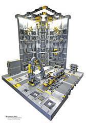 Hangar NO.5 Diorama Maintenance_03 (Benjamin Cheh) Tags: diorama hangar afol lego mecha