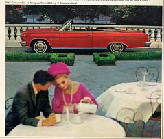 1966 American Motors Ambassador 990 Convertible (coconv) Tags: car cars vintage auto automobile vehicles vehicle autos photo photos photograph photographs automobiles antique picture pictures image images collectible old collectors classic ads ad advertisement postcard post card postcards advertising cards magazine flyer prestige brochure dealer 1966 american motors ambassador 990 convertible amc rambler antigua red 66
