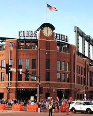 Coors Field (Brule Laker) Tags: denver colorado baseball mlb chicagowhitesox coloradorockies coorsfield clocks 6oclock
