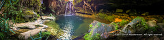 The secluded Black Pool in the Namaza River Canyon, Parc national de l'Isalo, Madagascar (Ulrich Münstermann) Tags: 90180º africa afrika blackpool farben ferien flus ihosy isalonationalpark landscape landschaft madagascar madagascarnationalparks namazariver panorama parcnationaldelisalo piscinenoir reise régiondihorombe schwarz schwimmbad technology travel wasserfall black canyon cascades colours equirectangularpanorama gorge hiking holiday hotel iphone6 kleuren landschap mountains panoramicview reizen river riverbed rivier rock rocks secluded sports swimmingpool vakantie waterfall waterval zwart zwembad ranohira