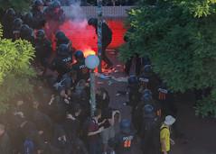 "G20 Protest Hamburg  ""Welcome to hell"" Demonstration 2017-07-06 (Rasande Tyskar) Tags: g20 hamburg germany summit gipfel protest welcome hell welcometohell fischmarkt altona stpauli demo demonstration manifestation rally black block riot auschreitungen polizei water cannons armoured cops"