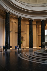 Rotunda, National Gallery of Art — Washington, D.C. (Pythaglio) Tags: national gallery art museum building structure historic rotunda hall circular edifice johnrussellpope 1937 1941 columns ionic black capitals volutes entablature coffering foundation floor marble people visitors lighting washington dc districtofcolumbia classical revival neoclassical greek grecian