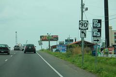 US90eRoadSign-LA182-LA96signs (formulanone) Tags: louisiana us90 90 la182 182 la96 96 sign road