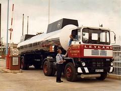 Gilbraith Tankers Leyland Marathon 4x2 tractor unit Reg No UFV 817V (moomooland1) Tags: gilbraithaccrington gilbraith gilbraithtankers leyland leylandmarathon accrington blythchemicals tractorunit tanker truck lorry lancashire roadhaulage ufv817v