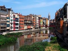 Girona, tempo fa (fotomie2009) Tags: girona gerona catalunya catalogna cataluna onyar fiume river reflections riflessi water spain espana spagna espania catalonia cases penjades