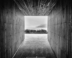 Passage to Loch Lomond (MTD Photos) Tags: lochlomond scotland amphitheater architecture blackandwhite clouds hallway lake landscape mattdomonkos nature passage water