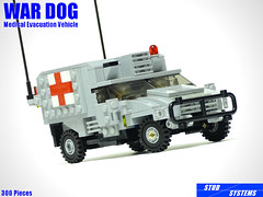 レゴ ウォードッグ野戦救急車(LEGO War Dog Medical Evacuation Vehicle) (popo lego) Tags: lego moc military army ambulance medical evacuation vehicle レゴ 野戦救急車
