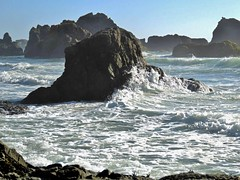 Wild Surf of California (moonjazz) Tags: california wild pacificocean tides rocks craggy coast highway1 senic danger vista photography best flckr tumbler crash colide surf rough mendocino foam sea wind nature north geology geography pounding shore