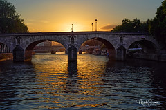 Paris bridges at dusk (marko.erman) Tags: paris france seine bridges dusk sunset pont pontmarie pontlouisphilippe architecture cruising ilesaintlouis silhouette sony beautiful arches old outside travel popular