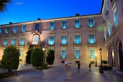 The Episcopal Palace, Murcia (built between 1748 and 1768) seen from Glorieta de España (18th century) (Toto Olmos) Tags: murcia glorieta palacio episcopal spain españa noche night