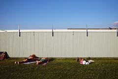 Sibbarp Beach (polybazze) Tags: malmö sweden sibbarp beach summer sun sunbathing fujifilm fuji fujifilmx100t fence wall