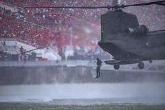 NDP 2017 - Navy Divers deploying from the rear ramp of the CH-47D Chinook (gintks) Tags: g gintaygintks gintks marinabaysands marinabayfinancialcentre onenationtogether ndp2017 ndp17 sg52 marinabaysingapore onefullerton thefloatmarinabay singaporetourismboard