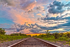 (Daniel000000) Tags: traintracks sunset sky clouds wisconsin summer july colorful beautiful creation green landscape nature ploverwi