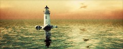Altitude (Wurfi) Tags: secondlife lindenlab altitude surferisland shinesideshow dannchris sim virtuallandscape virtuellelandschaft secondlifepicture secondlifephotography secondlifedestination isle island ocean sea sky lighthouse insel meer himmel leuchtturm