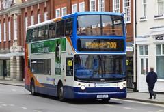 Stagecoach South 18502 (KX06 LYU) Chichester 26/7/17 (jmupton2000) Tags: kx06lyu coastliner 700 transbus alexander alx400 dennis trident stagecoach south uk bus southdown coastline sussex
