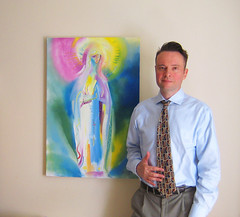 'Our Lady of Lourdes' with artist Stephen B Whatley - London, 2017. (Stephen B. Whatley) Tags: art expressionism ourladyoflourdes ourlady notredamedelourdes artartist painting picture fineart contemporaryart man male modernart oilpainting workofart prayer holy peace mary blessedvirginmary artist painter suited catholic christian toweroflondon towerhillunderpass towerhill london uk england theroyalcollection queenelizabeth bbc bbcheritage westminstercathedral exhibition virginia usa us artiststephenwhatley artiststephenbwhatley whatley stephenwhatley stephenbwhatley selfportrait selfie abigfave anawesomeshot blueribbonwinner flickrunitedwinner