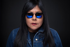 Blue Jean (AM.Foto) Tags: woman alienbees beautydish studio strobist glasses shades bluejean copyrightaleandmarkldodge amfoto