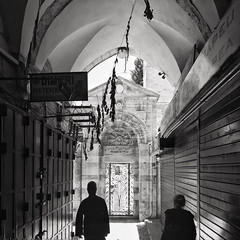 Mosque Entrance (karen axelrad (karenaxe)) Tags: snapseed jerusalem israel isr streetphoto iphoneography