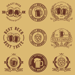 Set of labels templates with beer mug. Beer emblems. Bar. Pub. Design elements for logo, label, emblem, sign, brand mark. (manjil280) Tags: pub vintage design beer sign lager brewery beverage emblem badge vector alcohol label drink symbol glass bottle mug icon retro banner bar barrel stamp restaurant quality isolated hop brew seal premium art menu logo ale barley wheat mark brewing fest october froth beerlogo festival beermug dark craft oktoberfest tavern malt